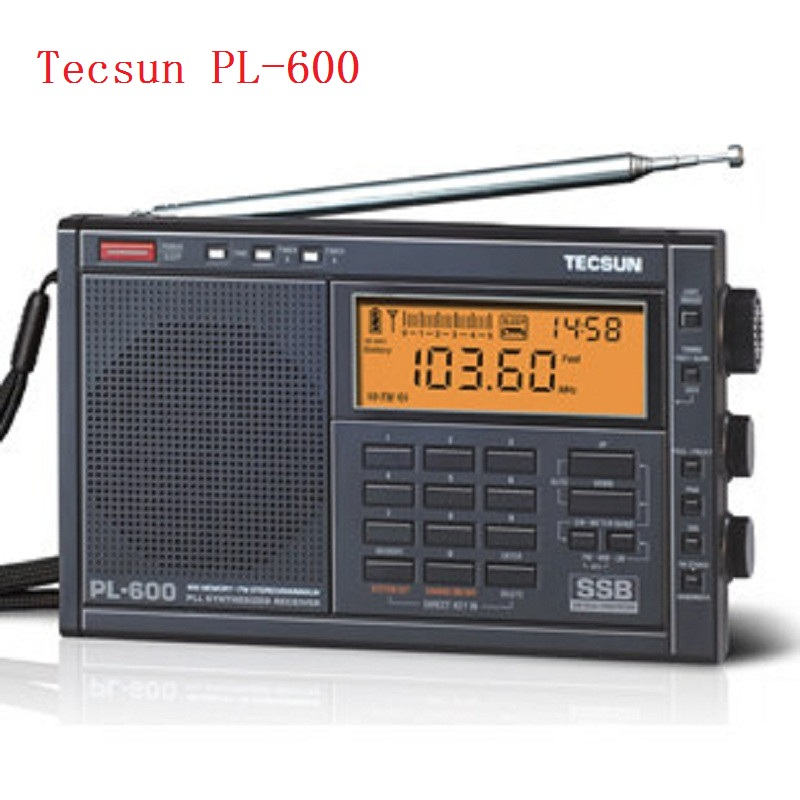 TECSUN PL-600 Portable Full Band Synthesized Stereo Digital tuner tunning FM MW/SW/SSB  Portable Radio  with clock tivdio portable fm radio dsp fm stereo mw sw lw portable radio full band world receiver clock
