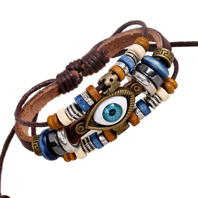 Ethnic Punk Style Angel Devil Eyes Cuff Bracelets Braclet s