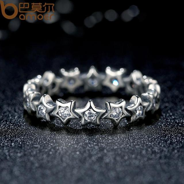 Sterling Silver Starshine Star Finger Ring