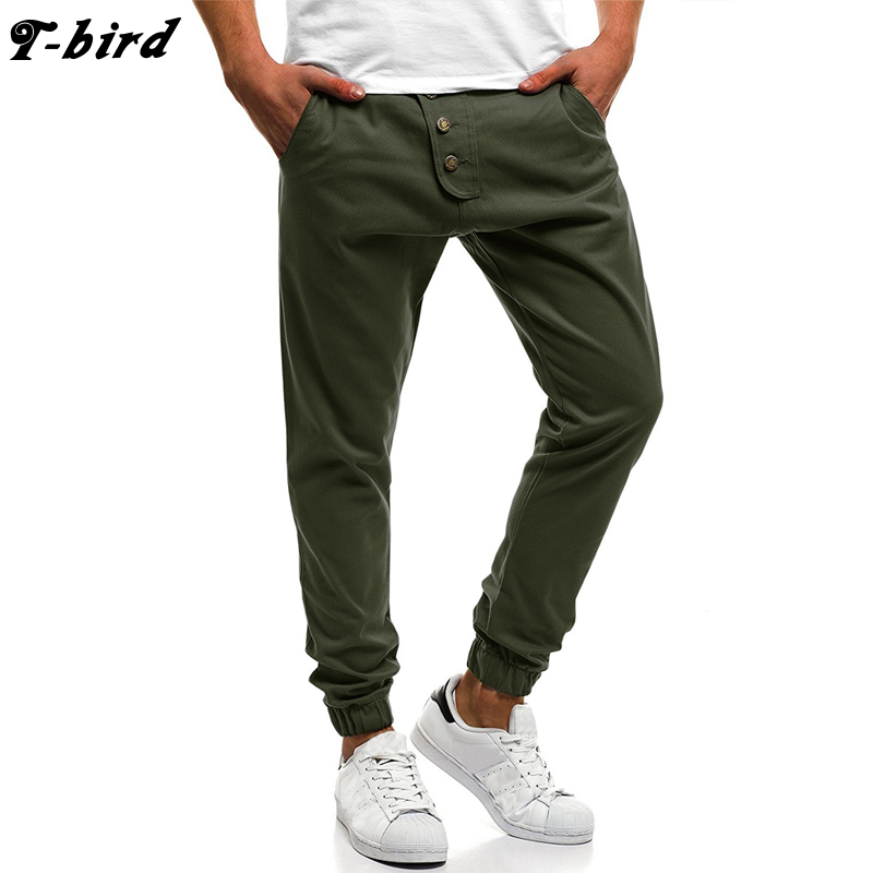 Pants Men Trousers Male Joggers Streetwear Hip-Hop Cotton Cargo New-Fashion T-Bird Homme