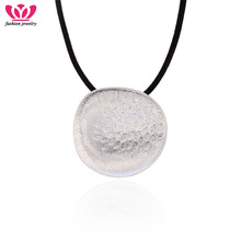 Silver Big Round Necklaces Simple Crystal Rhinestone Pendants Rope Chains Necklace For Women Fashion Jewelry Drop Shipping
