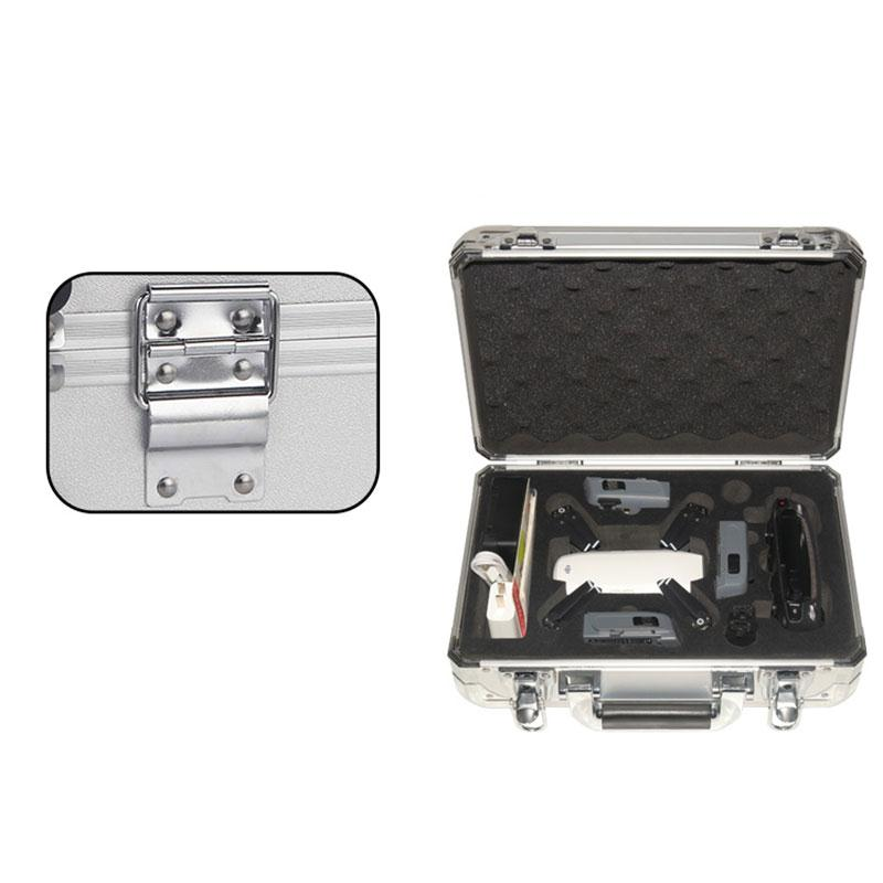 Storage Carrying Protective Box Case Suitcase For DJI Phantom Spark Pro Hinge lock Aluminum Alloy EVA with 2 *key classy alloy framed presbyopia reading glasses with protective case 2 50