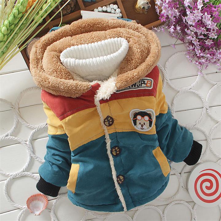 1 stück Einzelhandel baby Cartoon Winter Mantel, kinder oberbekleidung, Kinder baumwolle dicke warme hoodies jacke jungen kleidung auf lager