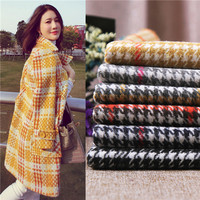 Jacquard Cashmere Wool Embroidered Fabric for Coat Dress Winter Woolen Coat