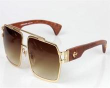 d9e02ce8f88 MONGOTEN Wooden Temple Retro Sunglasses Men Brand Designer Alloy Square  Frame Goggle