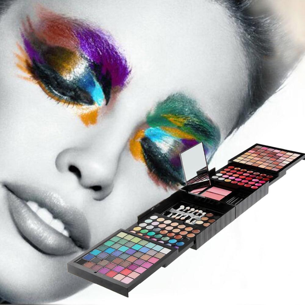 177 Color Makeup Set Eyeshadow Palette Blush Lip Gloss Brow Shader Concealer Eyeshadow Gel + Brusher pro 6 color lip gloss palette lip makeup maquiagem make up sexy lip gloss palette waterproof lip gloss makeup