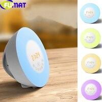 Venta FUMAT 6 colores cambian las luces de la noche del reloj despertador con 7 sonido de