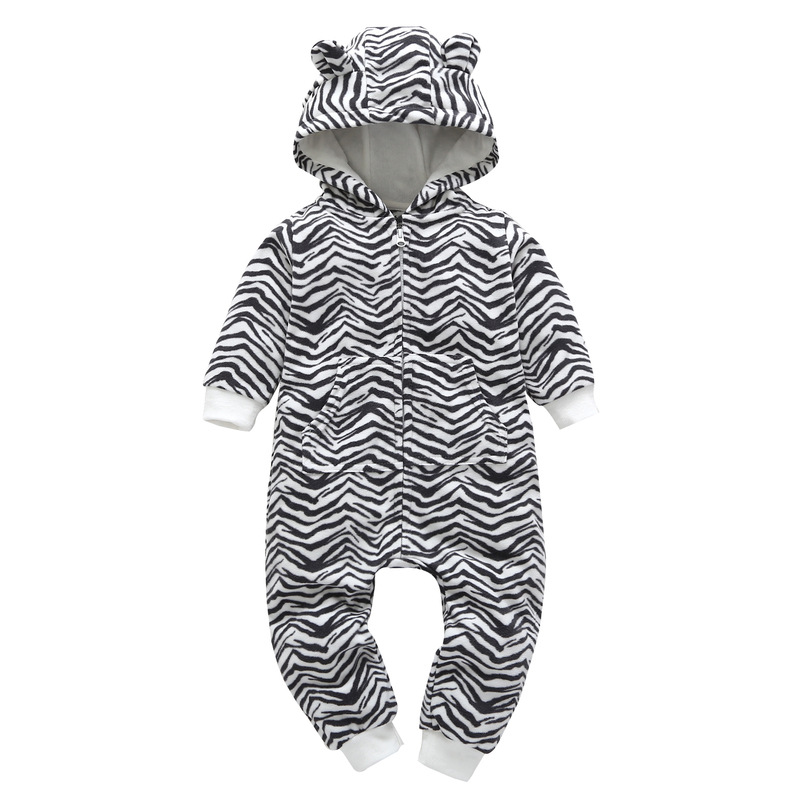 HTB1TwTQmiMnBKNjSZFzq6A qVXak 2018 New Bebes Clothes Newborn One Piece Fleece Hooded Jumpsuit Long Sleeved Spring Baby Girls Boys Body Suits Romper
