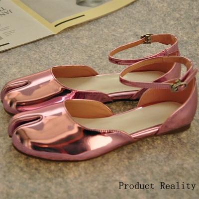 Chic Tabi Femmes Sapato Sandalia Boucle Pic Étoiles Pic Cuir Chaussures Conception Appartements as Feminina Femme As En Gladiateur Pour Mode Feminino rwCq1r
