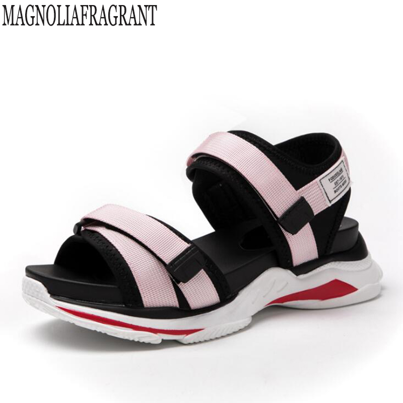 2018 Summer Gladiator Sandals Women sneaker Casual sandals Flat Fashion Women Shoes platform Comfortable The Female Sandals c25