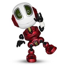 Talking Robots Mini Robot Travel Toy with Posable Body, Smart Educational Stem Toys Voice Changer and Robotics for Kids(China)