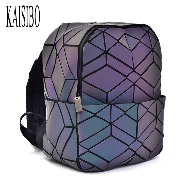 Luminous Backpack Diamond Lattice Bag Travel Geometric Women Fashion Bag Teenage Girl School Back Pack Noctilucent Bagpack kaisibo luminous backpack diamond lattice bag travel geometric women fashion bag teenage girl school noctilucent backpack