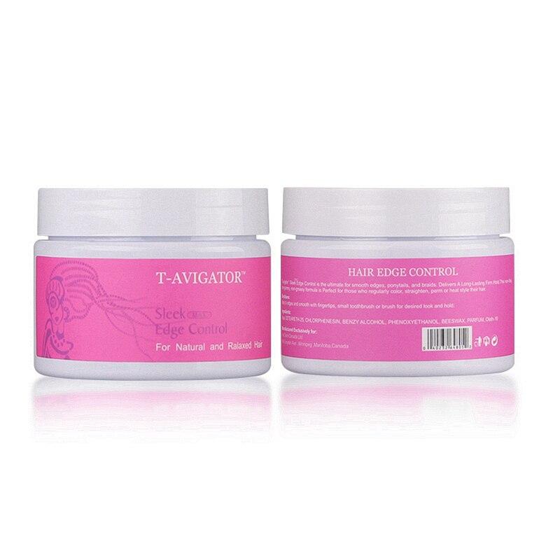 Купить с кэшбэком Refreshing Hair Oil Wax Cream Edge Control Long lasting Hair Styling Cream Broken Hair Finishing Anti-Frizz Hair Fixative Gel