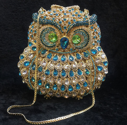 Luxury Brand Designer Vintage Diamond Evening Bag Fashion Women owl Day Clutch Party Dress Handbags Purse Chain Shoulder Bags
