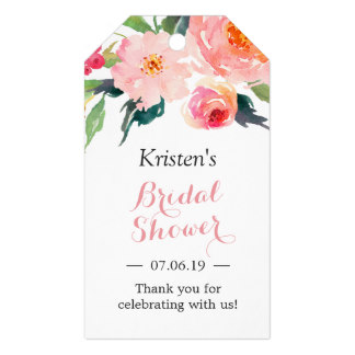 2x35inch modern watercolor floral decor bridal shower favor gift tags in cards invitations from home garden on aliexpresscom alibaba group