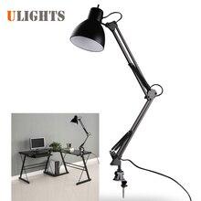 Черный Гибкий кулисой крепление лампы офис-студия домашний стол свет