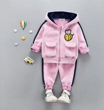 Baby Winter Suit 2019 Autumn Winter New Children 2pcs Set  Kids Clothes Set with Cashmere Thickening Infant Baby Set SY-F185208