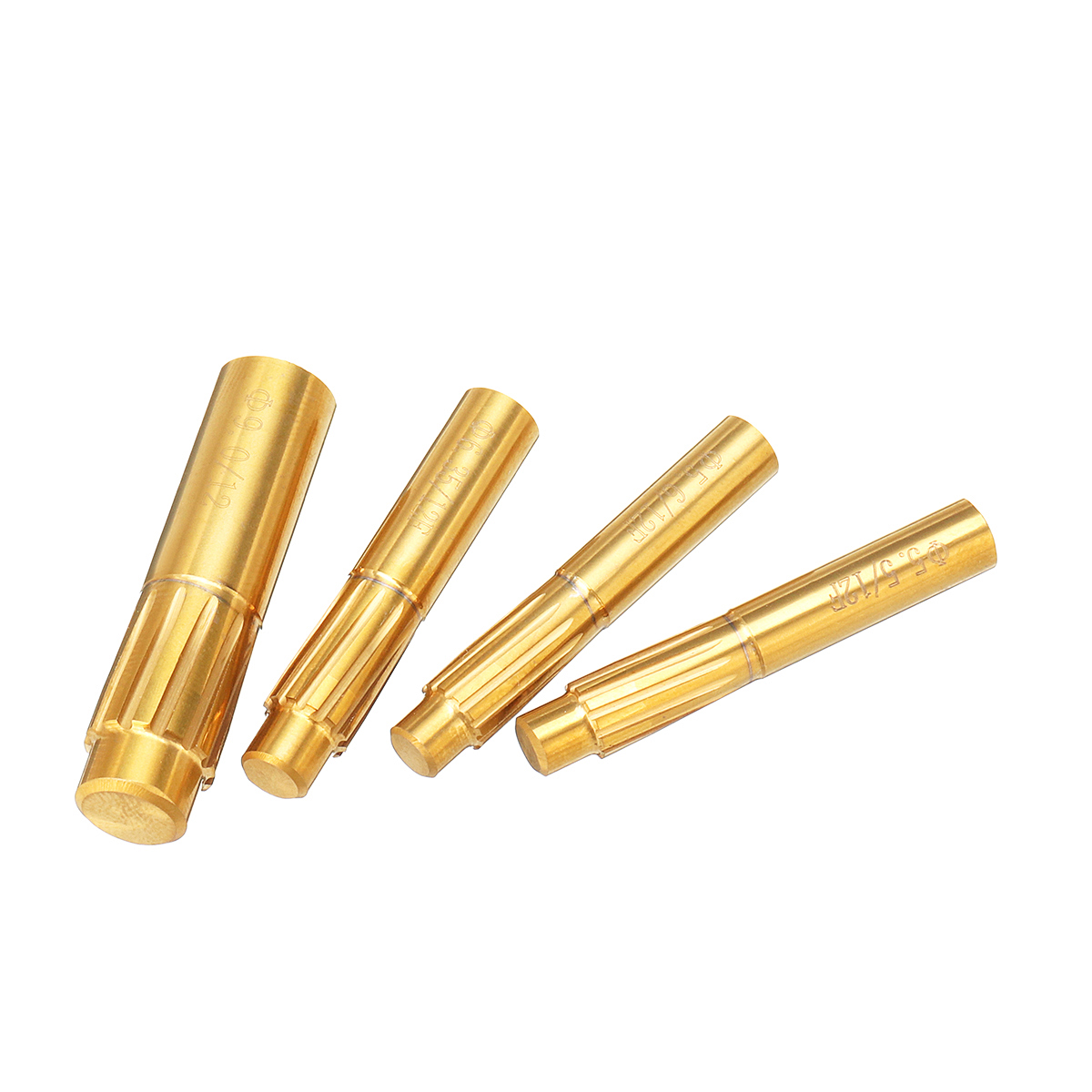 ChaRLes 12 Flutes 5.5mm-9.0mm Rifling Button Hard Alloy Chamber Helical Machine Reamer Tool 6.35mm