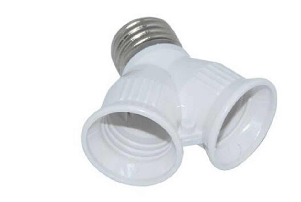חדש E27 להכפיל E27 שקע בסיס Extender ספליטר תקע הלוגן אור מנורת הנורה מחזיק נחושת קשר מתאם ממיר חג המולד