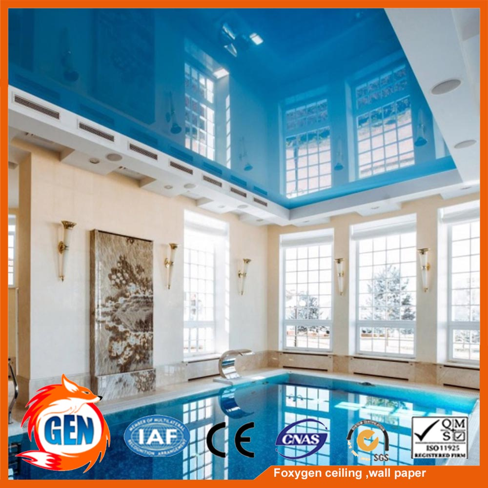 2017 new hot sale pvc stretch ceiling design false ceiling price for wall and ceiling panel Similar as barrisol