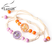 Luyun Female Personality Jewelry Glass Bracelet Snowdrop Flower  Lucky Wholesale