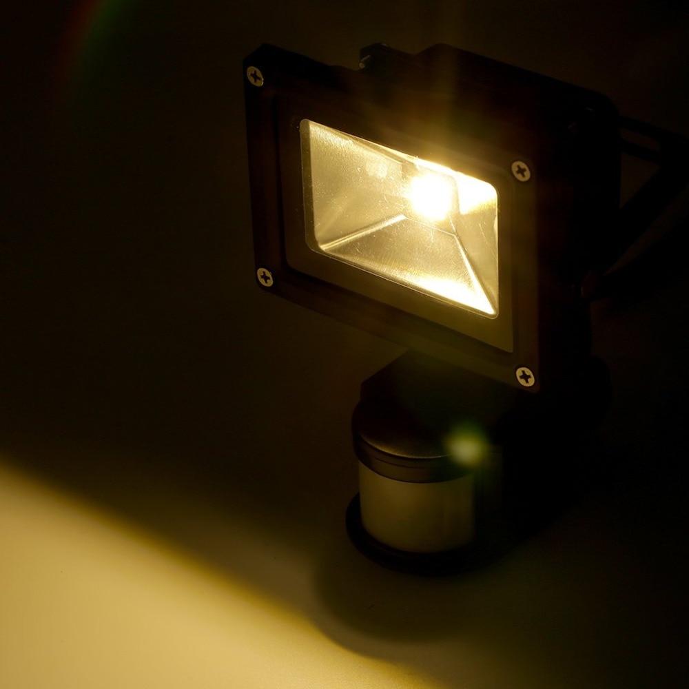 Hot 10w Led Flood Light Ip65 Pir Motion Sensor Home Garden