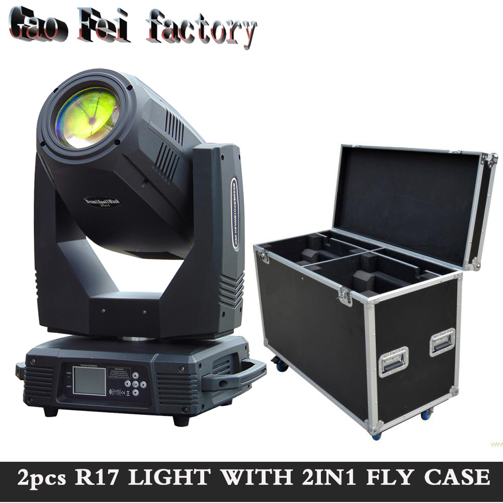 Moving Head 17R 350W Beam Wash Gobo  3IN1 Spotlight Stage Lighting With Fly Case