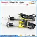 Newest R4 1 Set 80W 7600lm H4  H1 H3 H7 H8 H9 H11 H15 5202 H16  Xenon White 6000K Car LED Headlight Fog Driving Light Kit
