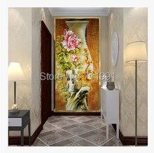 envo gratis por encargo de chino moderno d gran tapiz mural saln jarrones peona pared papel