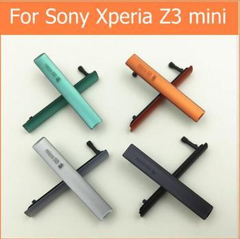100% New Genuine Micro SD Port & SIM Card Port Slot + USB Charging Port Dust Plug Cover for Sony Xperia Z3 mini z3 compact M55W