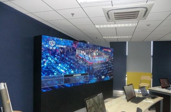 3x3pcs 3.5mm bezel pliced  46inch 55 inch 4K lg Samsung panel DID LED LCD TV  video wall
