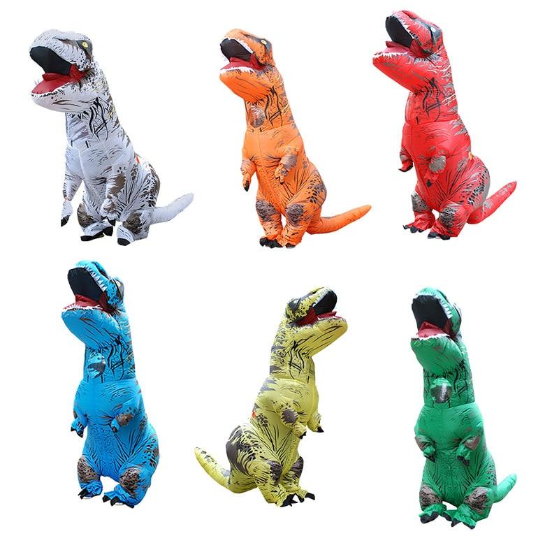 Надувной костюм динозавра T REX Хэллоуин косплэй карнавал Рождество костюмы для женщин мужчин Blowup маскоты партии нарядное платье