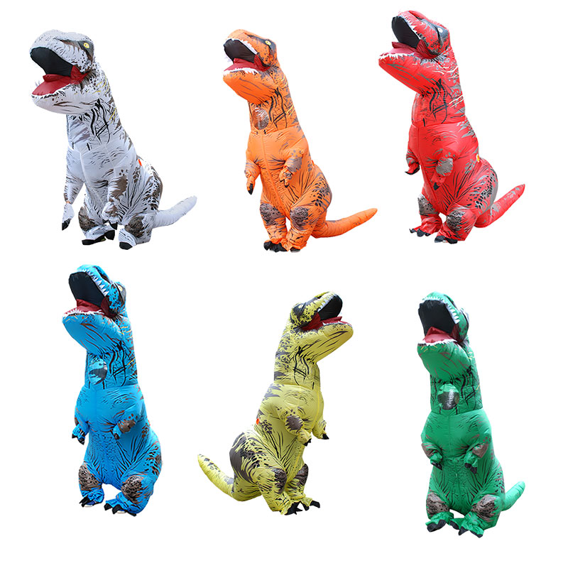 Inflatable dinosaur costume T REX Halloween cosplay Carnival Christmas costumes for women men Blowup Mascot Party Fancy Dress clown inflatable costumes halloween witch party stage clothes for men women carnival father unisex dress up fancy stuffed toys