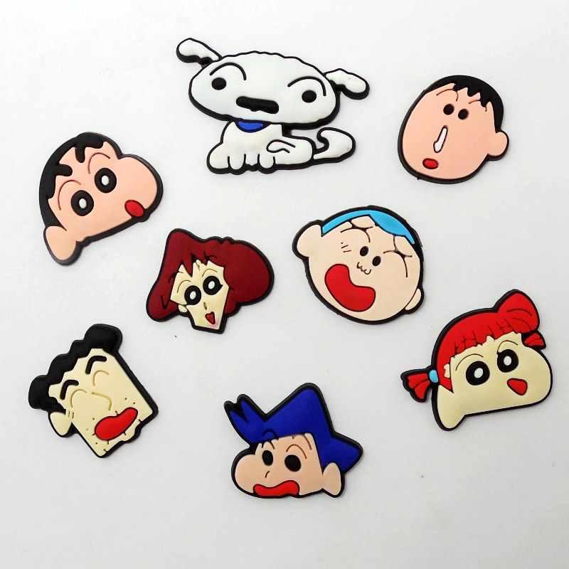 10 個日本漫画 PVC 売春チャーム DIY クラフトアクセサリーケーブルワインダー/ブローチ/USB 充電器/カードホルダー/リング
