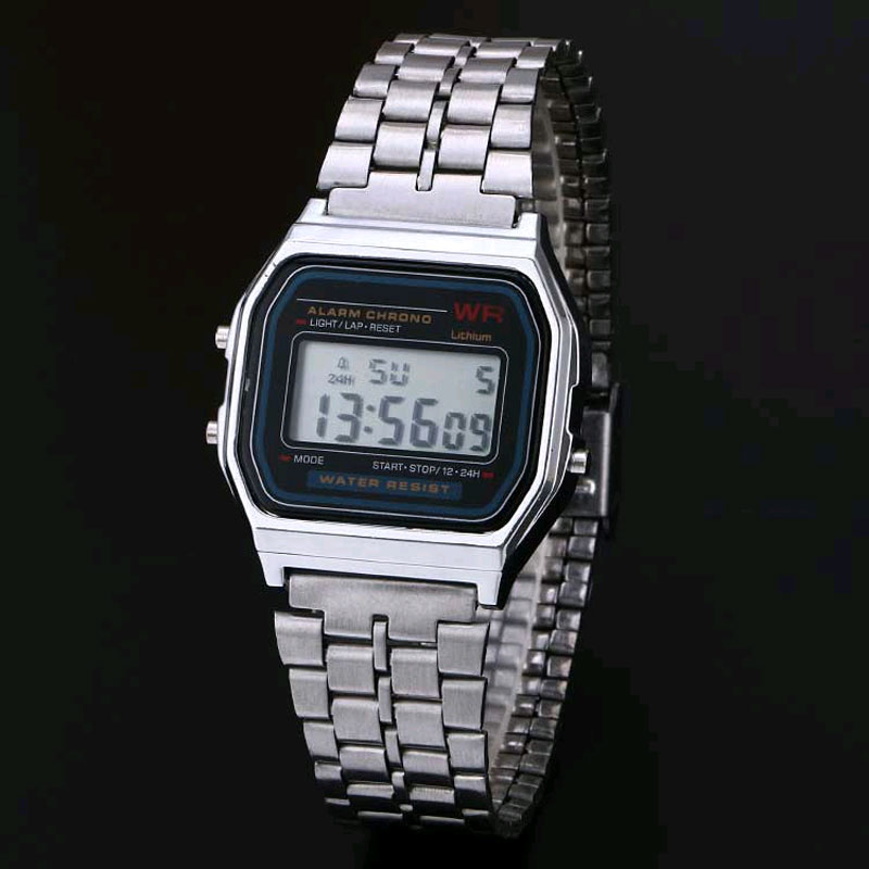 2016 hot Digital stainless steel watches Led men Sports Watch - Men's Watches