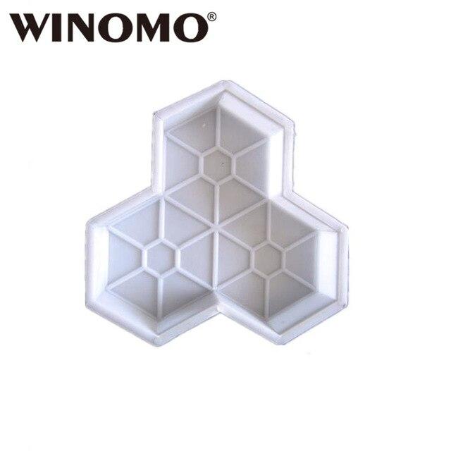 WINOMO 1 pz Percorso Della Muffa Maple Leaf di Cemento Manuale di Plastica tramp
