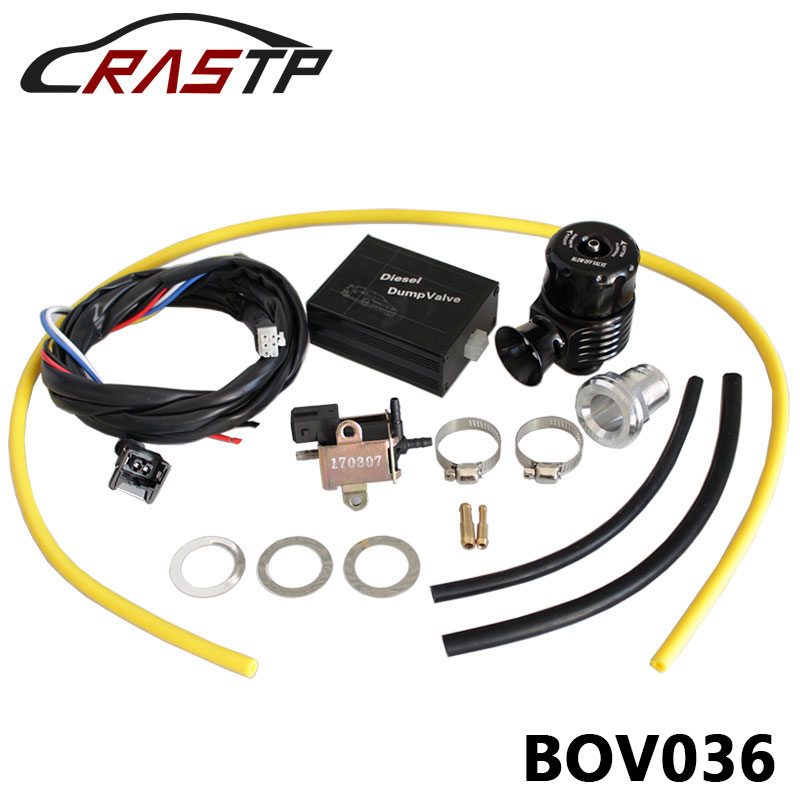 RASTP Universal Aluminum New Type Electrical Diesel Blow Off Valve Diesel Dump Valve Kit RS BOV036