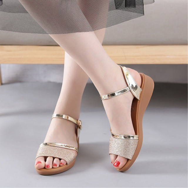 d38ceabc6c Summer comfortable sandals for women Bohemian wedges Female low heels  sandals Ladies buckle roman sandals shoes