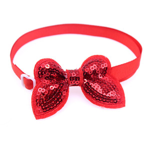 Image 3 - 50pcs Pet Supplies Dog Accessories Bright Sequin Pet Dog Cat Bow Ties Neckties Puppy Bow tie Dog Party Decoration Products