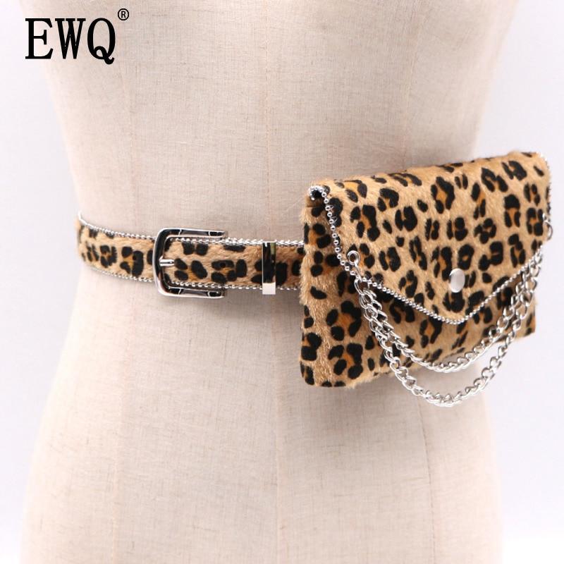 [EWQ 2018 nueva moda leopardo imprimir cadena correa de las señoras de las mujeres de Otoño de la personalidad de moda Liga Mini-bolsa BE057