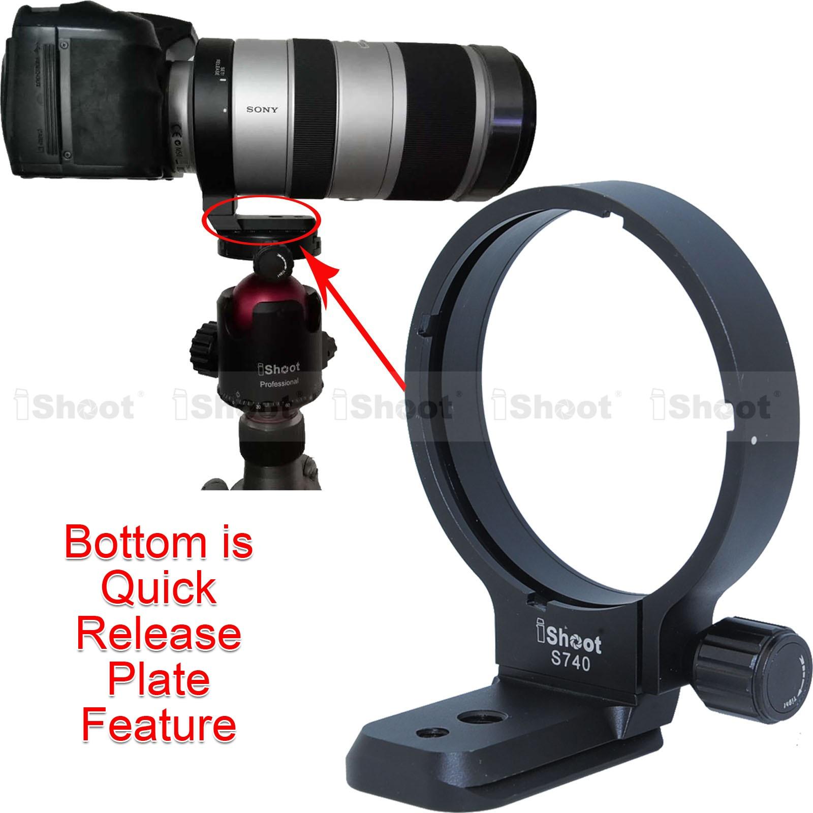 Lens Support Collar Tripod Mount Ring for Sony 70-400mm F4-5.6 G SSM (SAL70400G) and 70-400mm F4-5.6 G SSM II (SAL70400G2) объектив sony sal 2470z2 24 70 mm f 2 8 za ssm ii