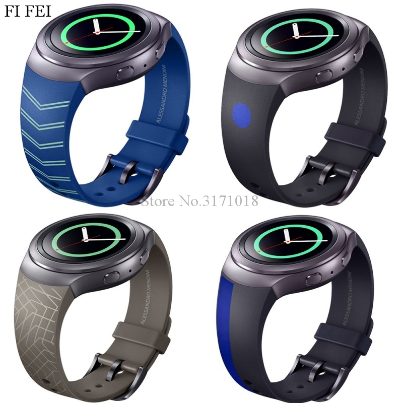FI FEI WatchBand For Samsung Galaxy Gear S2 Strap Wrist Modern Design Style Silicone Colorful Replacement Watch Band SM-R720 2016 silicone rubber watch band for samsung galaxy gear s2 sm r720 replacement smartwatch bands strap bracelet with patterns