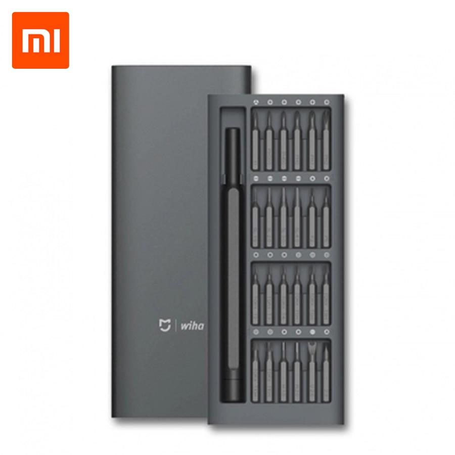 Original Xiaomi Mijia Screwdriver Kit Wiha Daily Use Aluminum Box 24 Precision Magnetic Bits Screw Driver Xiaomi Smart Home Kit отвертка mijia xiaomi wiha 24in1 kit