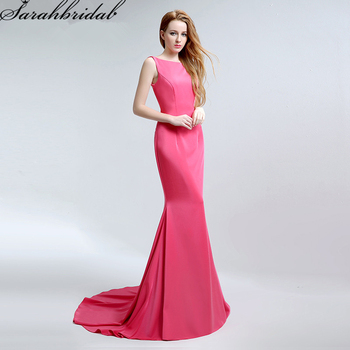 Sexy Backless Mermaid Evening Dresses Real Photos Long Formal Gowns Party Vestido De Festa Longo LSX159
