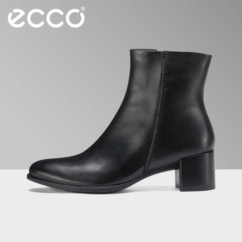 b5f33ce99 2018 ECCO/осенние модные женские ботинки с острым носком, Ботинки martin из натуральной  кожи