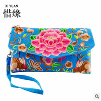 XIYUAN BRAND Dual Use New Arrival Embroidered Bags Handmade Flower Embroidery Ethnic Clothshoulder Bag Handbags Clutch