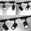 NEUE LED COB Track Lichter Aluminium Scheinwerfer High Power AC85-220V Hohe CRI Verfolgen Decke Linie Art Shop Galerie Beleuchtung Wirkung