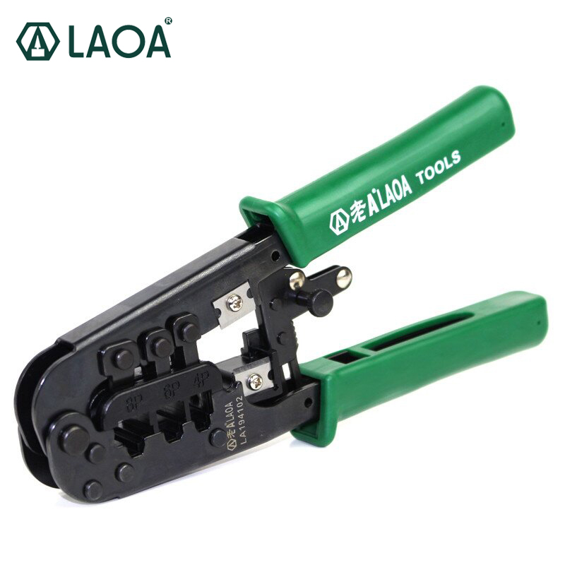 Three use rachet crimping pliers 4/6/8P Portable LAN Network Tool Kit Utp Cable Tester AND Plier Crimper Plug clamp PC HandTool pz0 5 16 0 5 16mm2 crimping tool bootlace ferrule crimper and 1k 12 awg en4012 bare bootlace wire ferrules