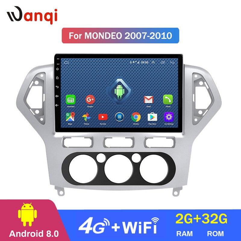 4G Lte tout Netcom 10.1 pouces Android 8.0 voiture DVD GPS pour Ford Mondeo 2007-2013 système de Navigation stéréo Bluetooth