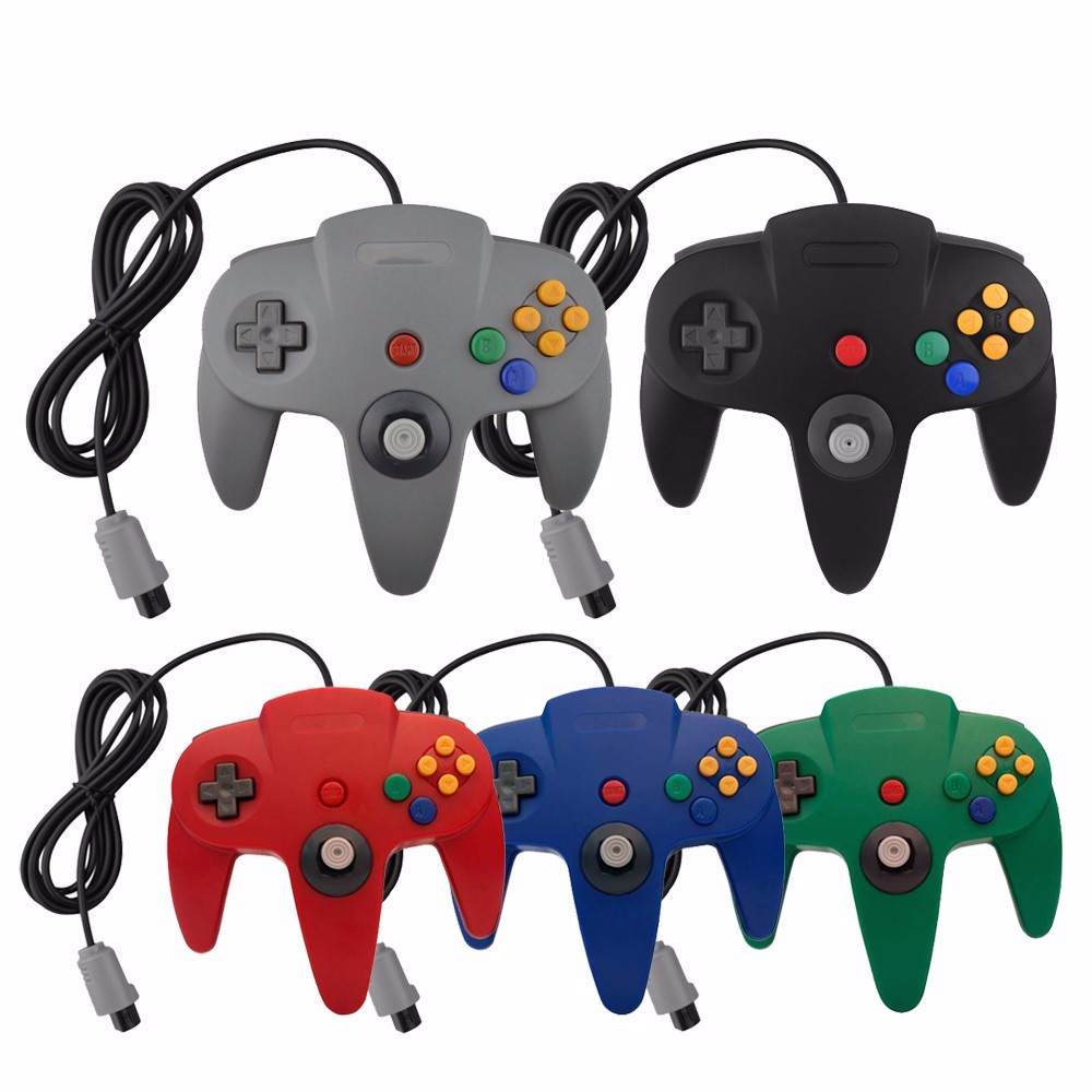HAOBA Classic Wired N64 Game controller joystick Console for Nintendo N64 host special gaming Gamepad цена 2017